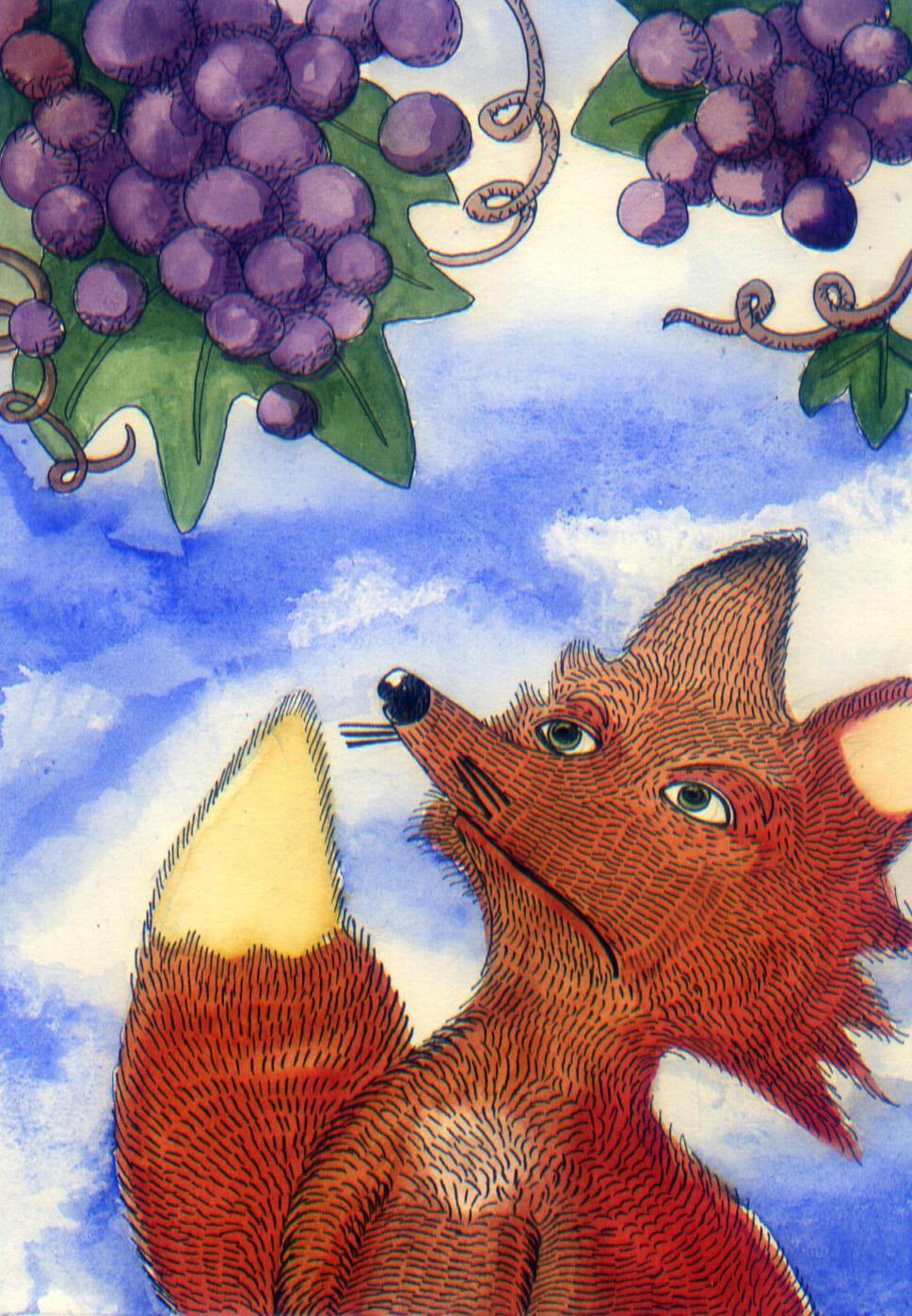 """favola """"La volpe e l'uva""""?,"""